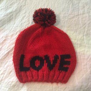 LOVE Beanie Hat Valentines Day